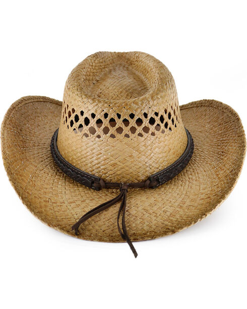 Cody James® Burnt Tan Straw Hat, Multi, hi-res
