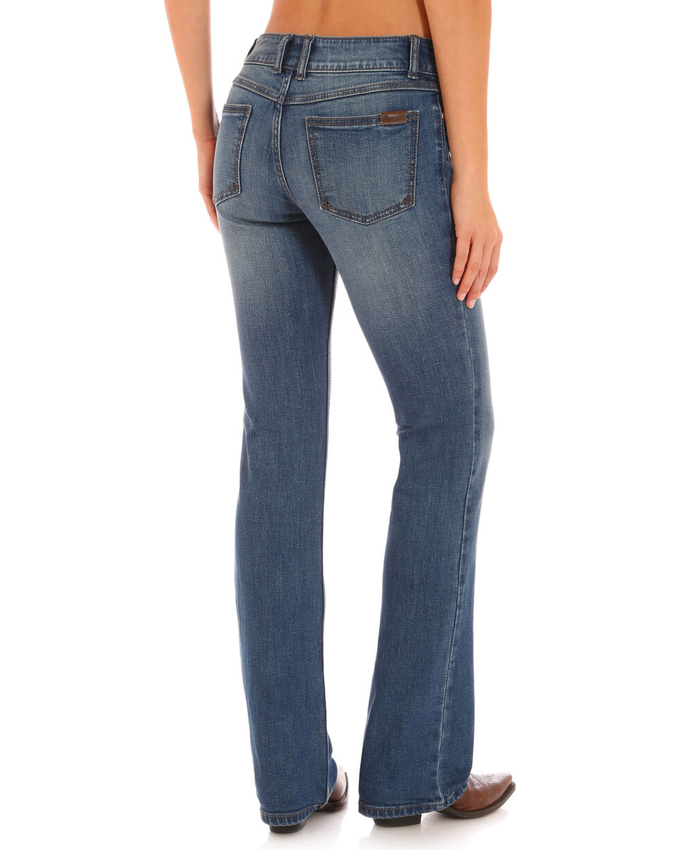 Wrangler Women's Faded Wash Retro Mae Jeans  , Indigo, hi-res