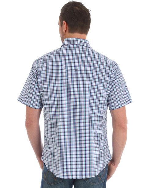 Wrangler Men's Purple Wrinkle-Resist Plaid Shirt , Purple, hi-res
