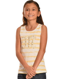 Miss Me Girls' Stripe Logo Tank Top, , hi-res
