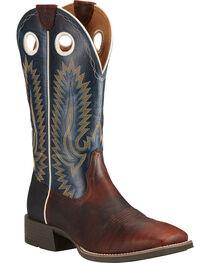 Ariat Men's Heritage High Plains Cowboy Boots - Square Toe, Chocolate, hi-res