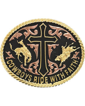 Cody James® Men's Ride With Faith Belt Buckle, Multi, hi-res