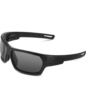 Under Armour Black Battlewrap Storm Polarized Sunglasses , Black, hi-res