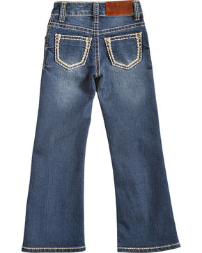 Cowgirl Legend May Lillie Girls' Stitched Jeans, Indigo, hi-res