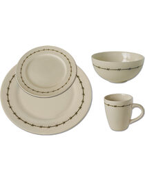 Moss Brothers 16-piece Barbwire Dinnerware Set , , hi-res