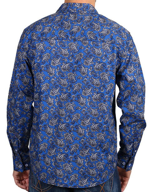 Cody James Men's Paisley Print Long Sleeve Shirt, Purple, hi-res