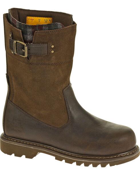 CAT Women's Jenny Steel Toe Work Boots, Bark, hi-res