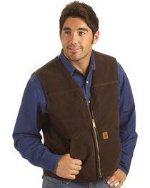 Carhartt Sandstone Duck Work Vest, , hi-res