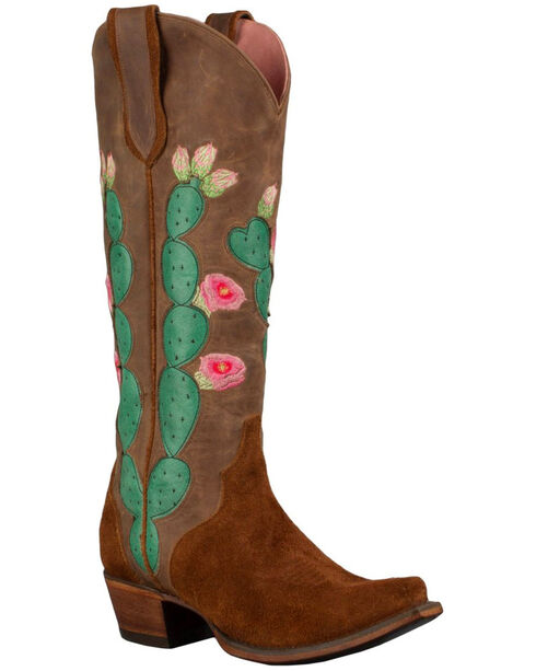 Junk Gypsy by Lane Women's Hard to Handle Western Boots, Brown, hi-res