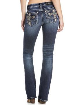 Miss Me Women's Embellished Cross Boot Cut Jeans, Blue, hi-res