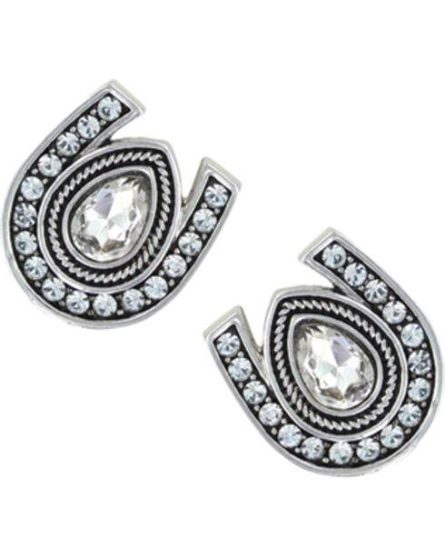 Montana Silversmiths Rider's Brilliant Raindrop Earrings, Silver, hi-res