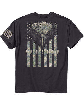 Buckwear Men's Grey Digi Free Eagle Tee , Grey, hi-res