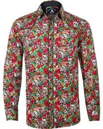 Rock Roll n Soul Men's Skeletar Long Sleeve Shirt, , hi-res
