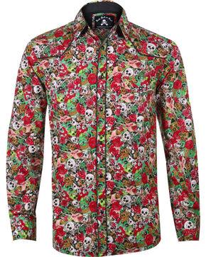 Rock Roll n Soul Men's Skeletar Long Sleeve Shirt, Multi, hi-res