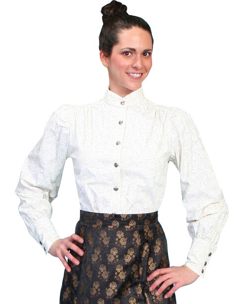 WahMaker by Scully Old West Blouse, Ivory, hi-res