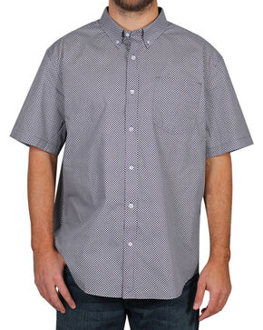 Cody James® Men's Pattern Short Sleeve Shirt , Purple, hi-res