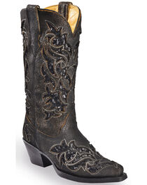 Corral Boots Women's Sequin Inlay Western Boots, , hi-res