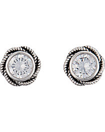 Montana Silversmiths Women's Forever Cowgirl Post Earrings , , hi-res