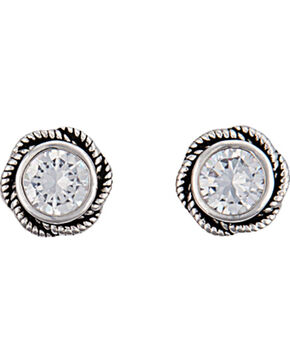 Montana Silversmiths Women's Forever Cowgirl Post Earrings , Silver, hi-res