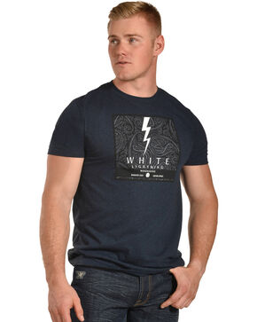 Moonshine Spirit Men's White Bolt Tee, Blue, hi-res