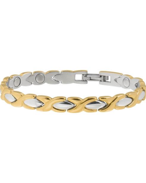 Sabona Women's Executive Dress Gold Duet Bracelet, Two Tone, hi-res