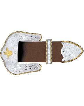 Montana Silversmiths Texas State Engraved 3-Piece Buckle Set, Silver, hi-res