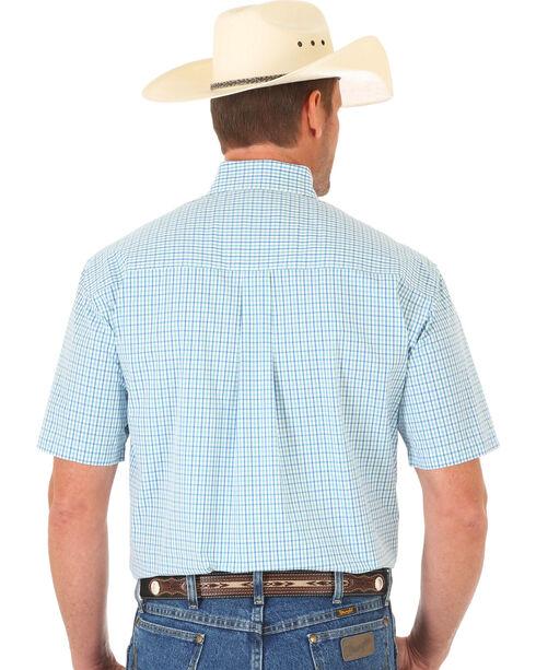 Wrangler Men's George Strait Short Sleeve Grid Plaid Western Shirt, Multi, hi-res