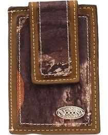 Nocona Mossy Oak Camo Print Logo Concho Magentic Clip Wallet, , hi-res