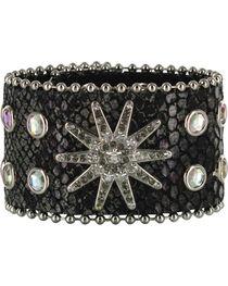 Shyanne® Women's Snake Print Leather Bracelet Band, , hi-res