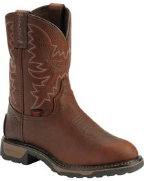 Tony Lama Youth TLX Briar Pitstop Western Work Cowboy Boots - Round Toe, , hi-res