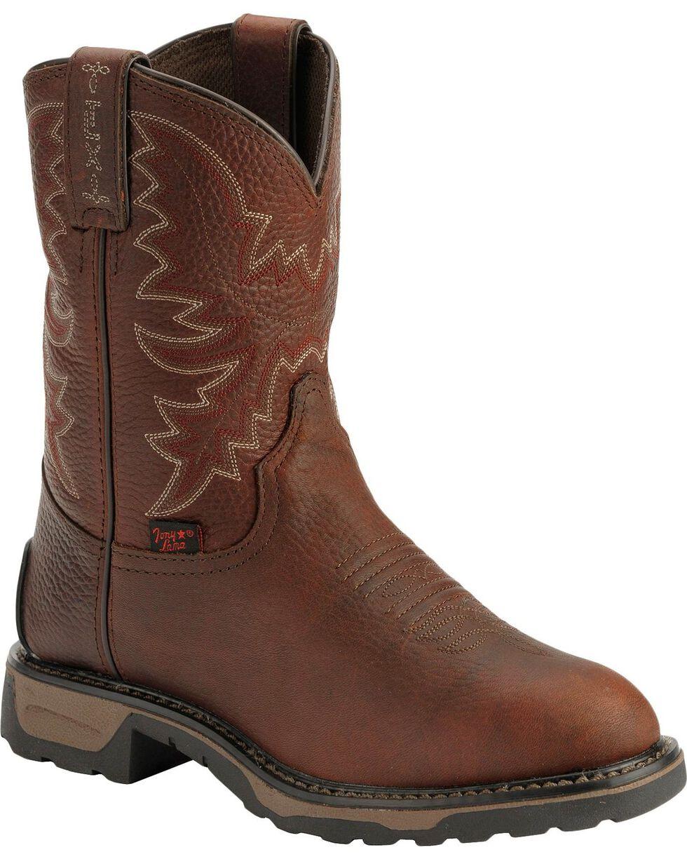 Tony Lama Kid's TLX Western Work Boots, Briar, hi-res