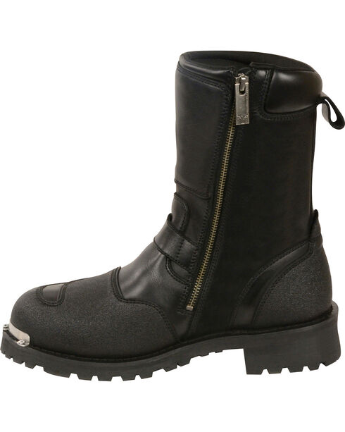 """Milwaukee Leather Men's Black 9"""" Waterproof Gear Shirt Protection Boots - Round Toe , Black, hi-res"""