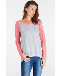 Z Supply Women's Grey Big Hit Baseball Tee , , hi-res