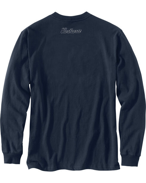 Carhartt Men's Workwear Graphic Carhartt Way Long-Sleeve T-Shirt - Big and Tall , Navy, hi-res