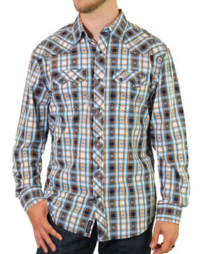 Moonshine Spirit Men's Bass Line Western Shirt, White, hi-res