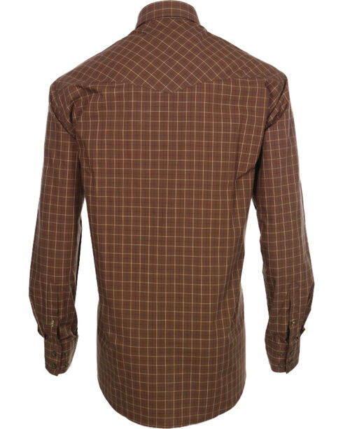 Miller Ranch Men's Plaid Long Sleeve Western Shirt, Brown, hi-res