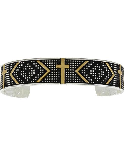 Montana Silversmiths Women's Silver Cross Cuff Bracelet , Silver, hi-res