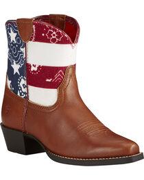 Ariat Kid's Brown July Boots - Snip Toe, , hi-res