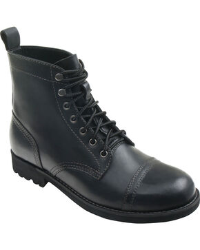 Eastland Men's Black Jayce Cap Toe Boots, Black, hi-res