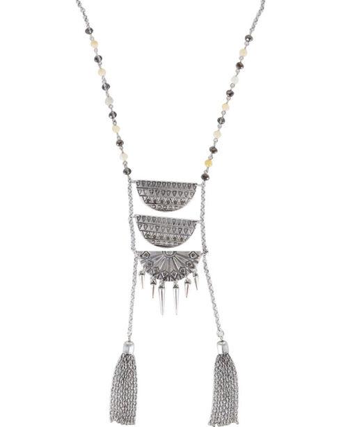 Shyanne® Women's Aztec Ladder Link Necklace, Silver, hi-res