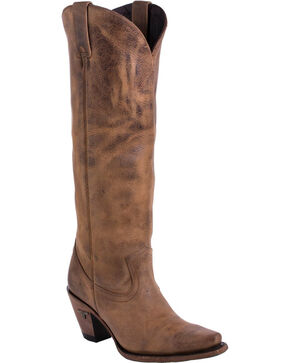 Lane Women's Julia Snip Toe Western Boots, Brown, hi-res
