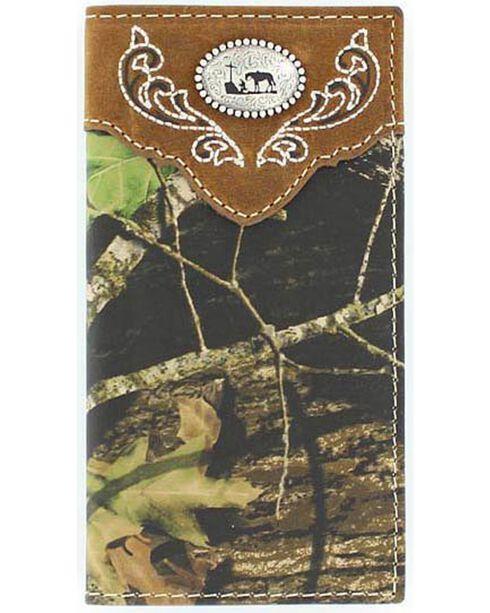 Nocona Boys' Mossy Oak Cowboy Prayer Concho Wallet, Camouflage, hi-res