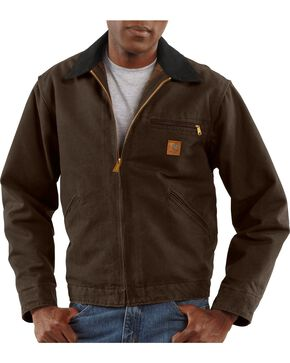 Carhartt Sandstone Detroit Work Jacket, Dark Brown, hi-res