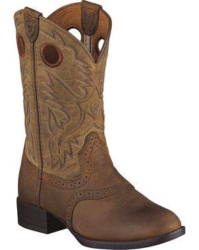 Ariat Kid's Heritage Stockman Boots, Brown, hi-res