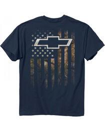 Buck Wear Men's Blue Chevy Camo Accent Flag Tee , , hi-res