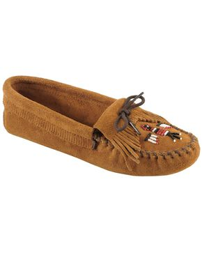 Minnetonka Thunderbird Moccasins, Brown, hi-res
