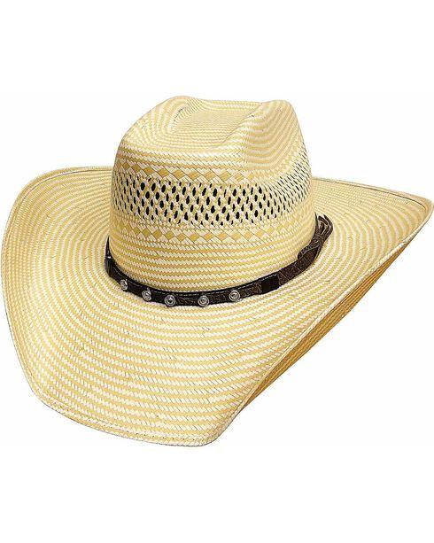 Bullhide Men's Borrowed Time 50X Straw Hat, Natural, hi-res
