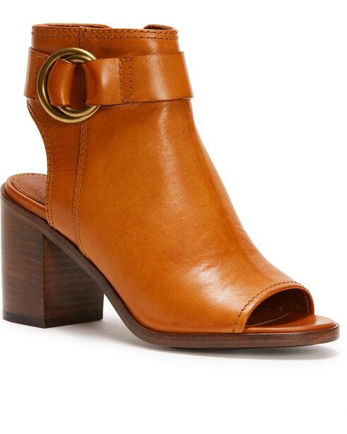 Frye Women's Brown Danica Harness Shoes , Brown, hi-res