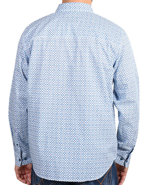 Cody James® Men's Diamond Patterned Long Sleeve Shirt, White, hi-res