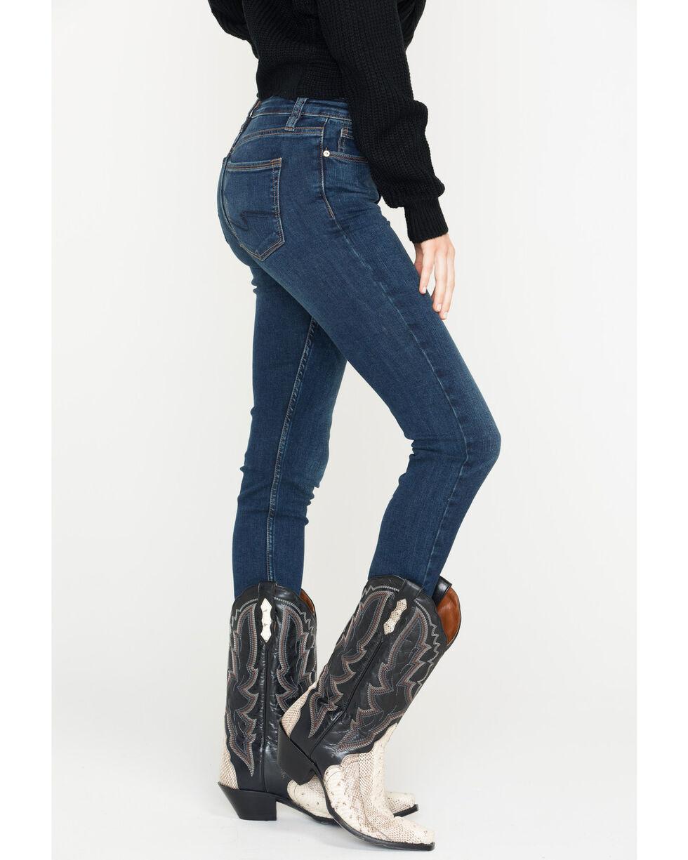 Silver Jeans Women's Bleecker Mid Rise Dark Wash Jeggings , Indigo, hi-res